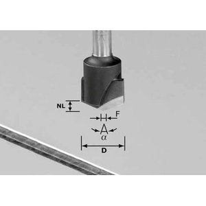 V-groove cutter HW 135x18 mm, 135° / Alu, Festool