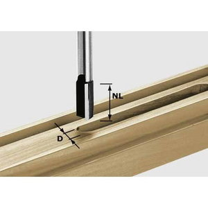 Edge trimming cutter HW shank 8 mm, HW S8 D12/30, Festool