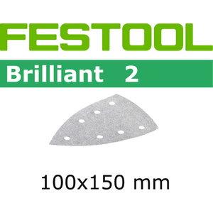 Lihvpaberid BRILLIANT 2 / Delta 100x150/7  / P180 / 100tk, Festool