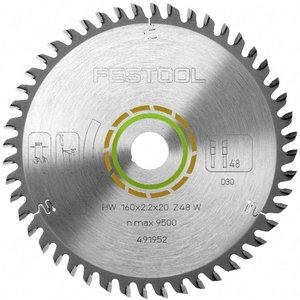 Zāģa asmens 260x2,5x30, W80, -5°. Wood, veneer, Festool