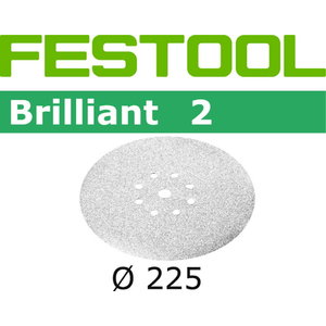 Šlif. popierius Brilliant (Planex) STF-D225/8-P120-BR 25 vnt, Festool