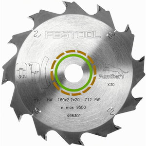 Diskas pjovimo HW 160x2,2x20, PW12, 20°. Wood, soft platic, Festool