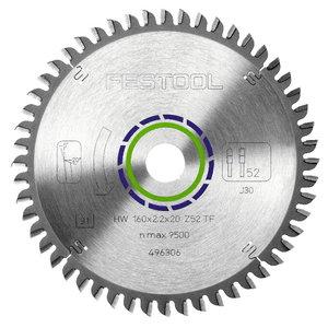 Zāģa asmens HW 160x2,2x20, TF52, -5°. Alumīnijam, Festool