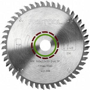 Zāģa asmens HW 160x2,2x20, TF48, 4°. For laminate, Festool