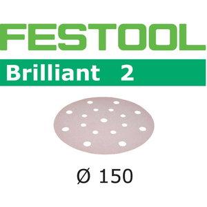 Šlif.popierius Brill/2 STF D150/16 P150 BR2/100 100 vnt., Festool