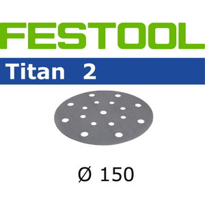 Šlif.popierius TITAN 2 STF D150/16 P 240 TI 100 vnt., Festool