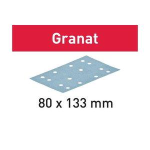 Šlifavimo popierius STF 80x133 P150 GR/100 Granat 100 vnt., Festool