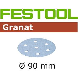 Šlifavimo popierius STF D90/6 P400 GR/100 Granat 100 vnt., Festool