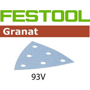 Šlifavimo lapas STF V93/6 P120 GR/100 Granat 100 vnt., Festool