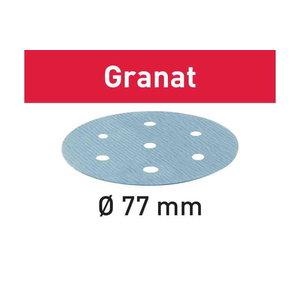 Šlifavimo popierius Granat STF D77/6 180 GR 50 vnt., Festool