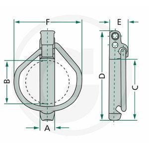 Blister Linch pin set (6X41X47) 6,0 mm, Ø 41 mm, Granit