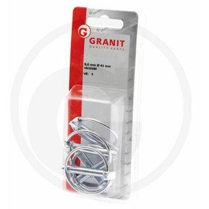 Blister Linch pin set (8X41X47) 8,0 mm, Ø 41 mm, Granit