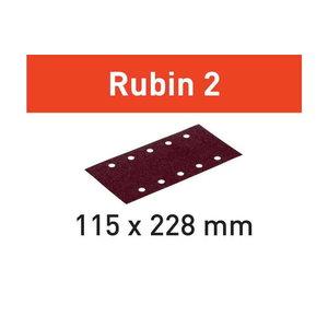 Šlifavimo popierius STF 115X228 P100 RU2/50 Rubin 2 50 vnt., Festool