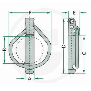 Linch pin set 5pcs 7,5MM (7,5X42X52), Granit