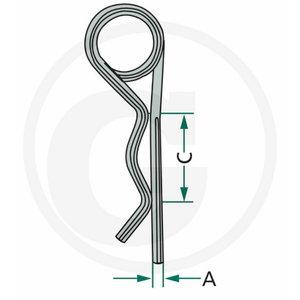 R-clip set 6,0 mm, Ø 24-36, GRANIT