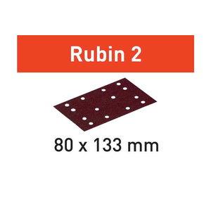 Šlifavimo popierius STF 80X133 P60 RU2/10 Rubin 2 10 vnt., Festool