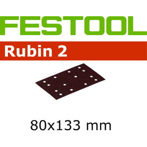 Sanding papers RUBIN 2/ 80x133/14 / P100 / 10pcs, Festool