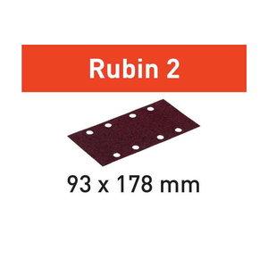 Š?ifavimo popierius STF 93X178/8 P120 RU2  Rubin 2 50 vnt., Festool