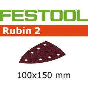 Šlif.popierius RUBIN2 STF DELTA/100x150/7 / P100. 50pcs, Festool