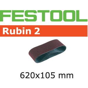Slīpēšanas lente RUBIN 2 / 620x105mm / P120 /10 gab. BS 105E, Festool