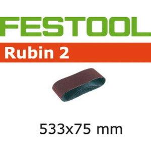 Lihvlint RUBIN 2 / 533 X 75mm / P120 / 10tk. Sobib: BS 75 E, Festool