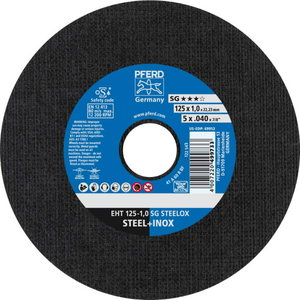 Cut off wheel 125x1mm SG STEELOX, Pferd