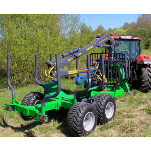 Forestry trailer with crane T10C6,3D Ext, Farma