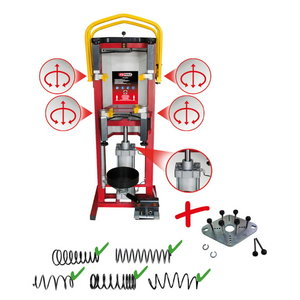 Pressurised air stand spring compressor incl. adapter plate, KS Tools
