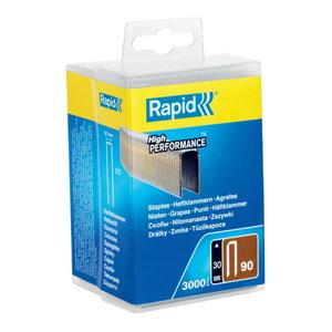 Kabės 90/30 3000vnt,  plastikinėje dėžutėje, Rapid