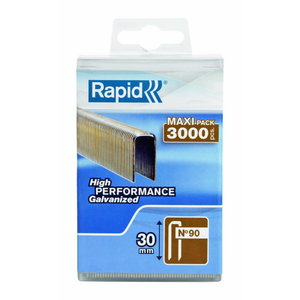 Staples 90/30 3000pcs, plastic box, Rapid