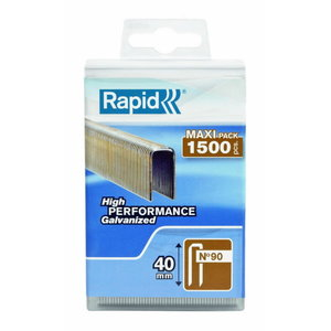 Staples 90/40 1500pcs, plastic box, Rapid