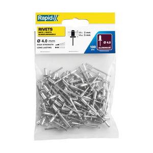 Standard rivets Al 4,0x8mm 100pcs, Rapid