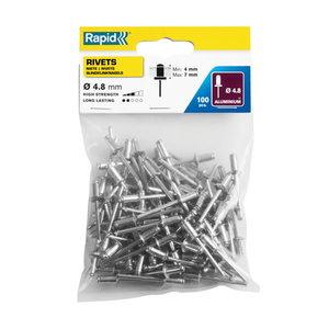 Standard rivets Al 4,8x10mm 100pcs, Rapid