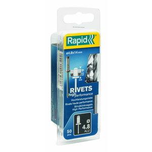 Kniedes Al 4,8x20mm, 50 gab. + Drill C, Rapid