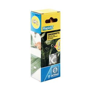Gredzeni 10x21mm Blist. 25 gab.+ montāžas instruments, Rapid