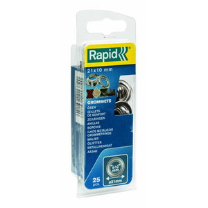 Grommets 10x21mm Blist. 25 PCS + 2 Metal Tools, Rapid