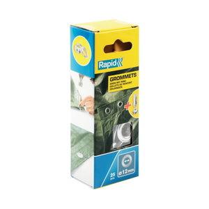 Grommets 12X23mm Blist. 25 PCS + 2 Metal Tools, Rapid