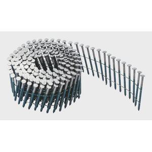 Nails 50/50mm, coil nail, bright, ring profile 3600pc, Rapid