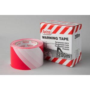 Piirdelint 75mmx200m, punane-valge, Spino