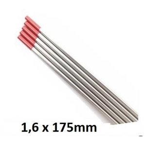 Volframa elektrods WT20 1.6mm, sarkans, mOST