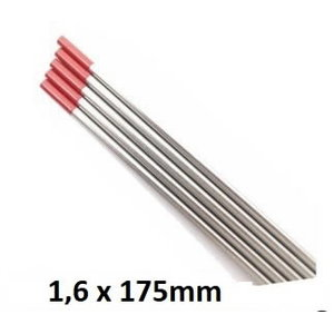 Tungsten electrode red WT20 1,6x175mm, MOST