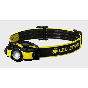 Headlamp iH5R with helmet mount, rechargeable, IP54, 400lm, LED Lenser