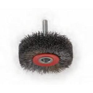 Wire brush flat D30x12x6mm shank M6 steel wire 0,20mm, Osborn