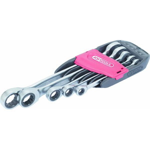 Combination ratchet spanner set 5pcs GEAR+, KS Tools