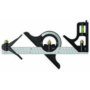 Combination square 300/12mm with protractor and center head, Vögel