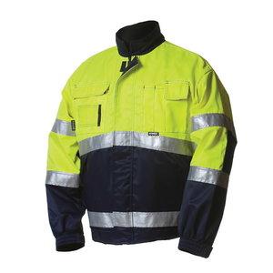 Žieminis švarkas  5091 signalinis geltonas/mėlynas L, Dimex