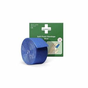 Soft Foam Bandage, Blue 4,5 m, Cederroth