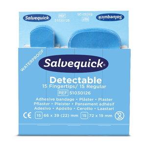 Blue Detectable Plaster, fingertip/regular, 30 pcs/refill, Cederroth