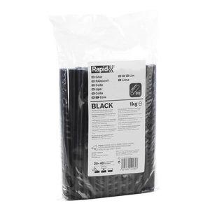 Glue sticks 12mm/1kg bag, black, Rapid