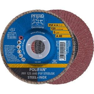 Lameļu slīpdisks 125mm A40 PSF PFF POLIFAN plaknēm, Pferd